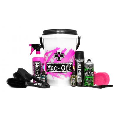 Muc-Off Bike Dirt Bucket Kit with Filth Filter and Cleaning Products