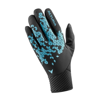 Altura Nightvision Windproof Gloves, Black/Blue