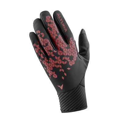 Altura Nightvision Windproof Gloves, Black/Red