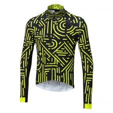 Altura Icon Long Sleeve Jersey, Tokyo, Lime/Black