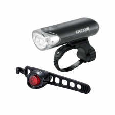 Cateye EL135 Front Light and Orb Rear Lightset