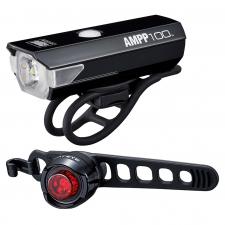 Cateye AMPP 100 USB  /Orb Battery Light Set