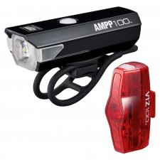 Cateye AMPP 100 / Viz 100 USB Rechargable Light Set