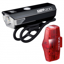 Cateye AMPP 200/ Viz 100 USB Rechargable Light Set