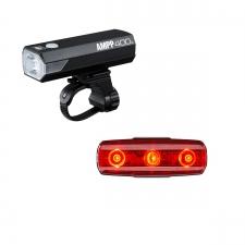 Cateye AMPP 400 & Rapid Micro USB Rechargable Light Set