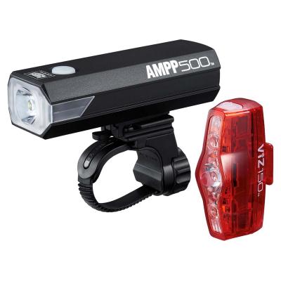 Cateye AMPP 500 USB Front & Viz 150 Rear Rechargable Light Set