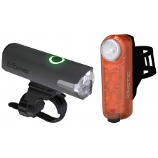 Cateye Sync Light Set, Core 500 Front and Kinetic Rear