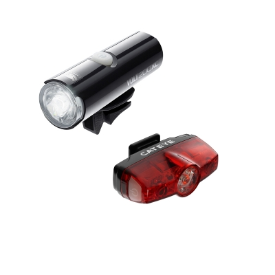 Cateye Volt 200 XC Front Light and Rapid Mini USB Rechargable Rear Lightset