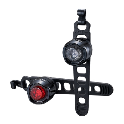 Cateye Orb Rechargeable Front and Rear Light Set (7 Lumen)