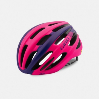 Giro Saga Women's Road Helmet - Matt Bright Pink/Purple