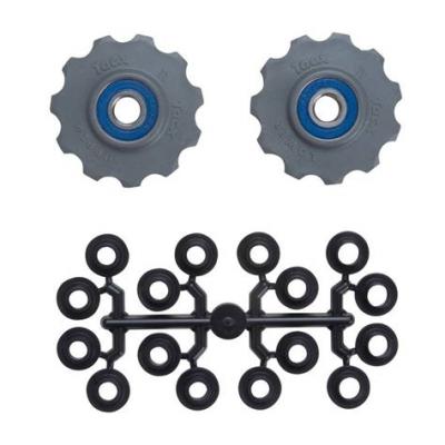Tacx Jockey Wheel Set, 11 Teeth (Shimano 9, 10 Speed) - Stainless Bearings