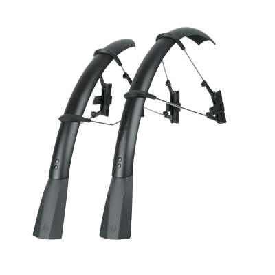 SKS RaceBlade Pro Stealth Series Road Mudguard Set with Quick-Release Fitting System, 700 x 23-25c